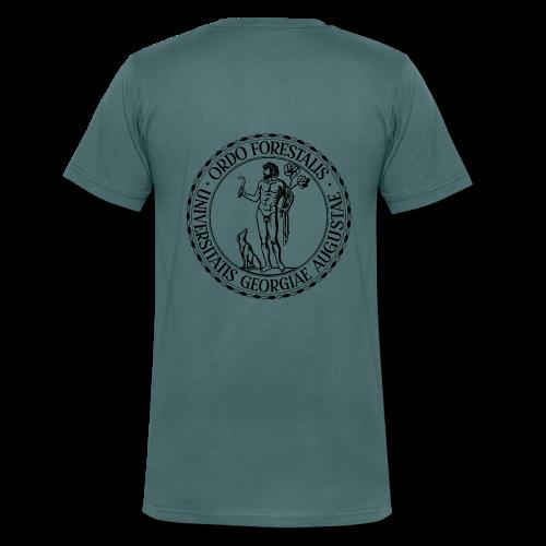 Ordo Forestalis Schwarz - Männer Bio-T-Shirt mit V-Ausschnitt von Stanley & Stella