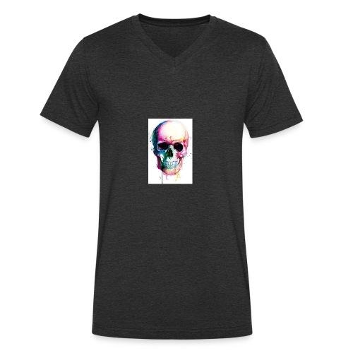 Skulls - Men's Organic V-Neck T-Shirt by Stanley & Stella