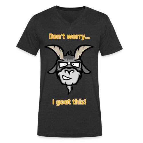 I goat this! Orange - Mannen bio T-shirt met V-hals van Stanley & Stella