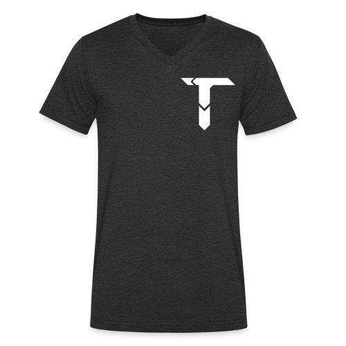 White Logo - Men's Organic V-Neck T-Shirt by Stanley & Stella