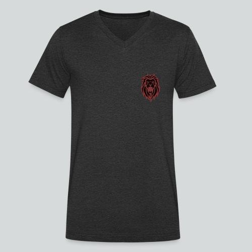 HAHN - RED - Økologisk Stanley & Stella T-shirt med V-udskæring til herrer