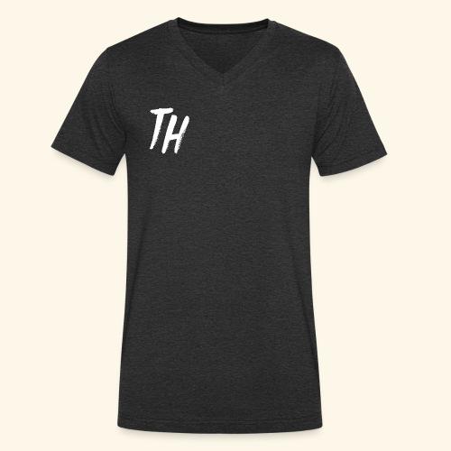 TH Designs - Men's Organic V-Neck T-Shirt by Stanley & Stella