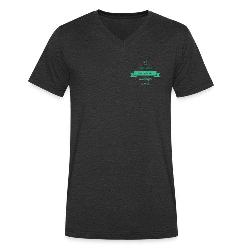 COCOOKING SLOGAN - Camiseta ecológica hombre con cuello de pico de Stanley & Stella