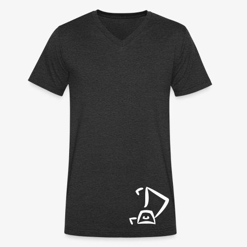 Strandkorb Logo - Männer Bio-T-Shirt mit V-Ausschnitt von Stanley & Stella