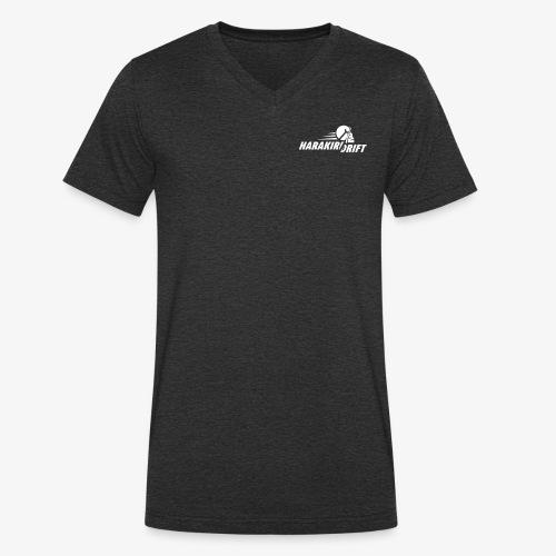 Harakiri Drift Logo Weiss - Männer Bio-T-Shirt mit V-Ausschnitt von Stanley & Stella