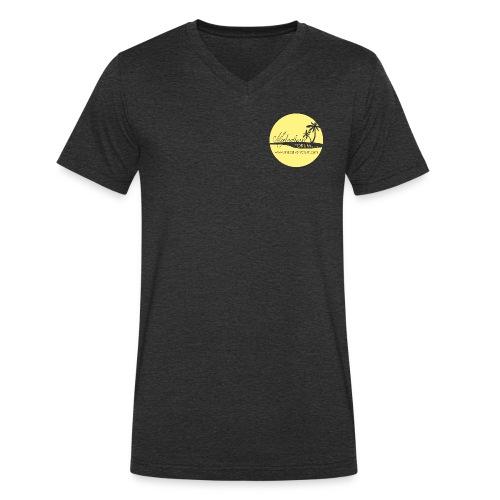 MF Logo Kreis hellgelb - Männer Bio-T-Shirt mit V-Ausschnitt von Stanley & Stella