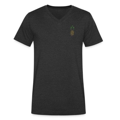 Yay For Today Ananas - Männer Bio-T-Shirt mit V-Ausschnitt von Stanley & Stella