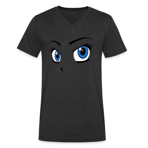 Manga Eyes - Men's Organic V-Neck T-Shirt by Stanley & Stella