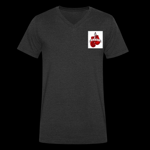 the boxing one - Men's Organic V-Neck T-Shirt by Stanley & Stella