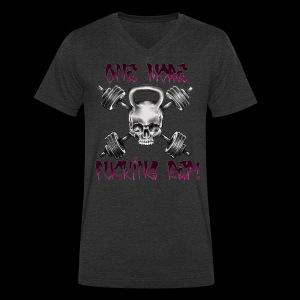 One More Fucking Rep! - Ekologisk T-shirt med V-ringning herr från Stanley & Stella