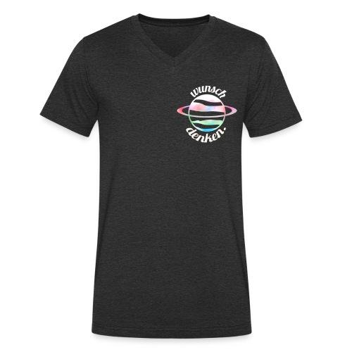 Planet weiss - Männer Bio-T-Shirt mit V-Ausschnitt von Stanley & Stella