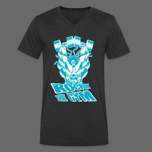 Hoacore - Rockin the Gym - Männer Bio-T-Shirt mit V-Ausschnitt von Stanley & Stella