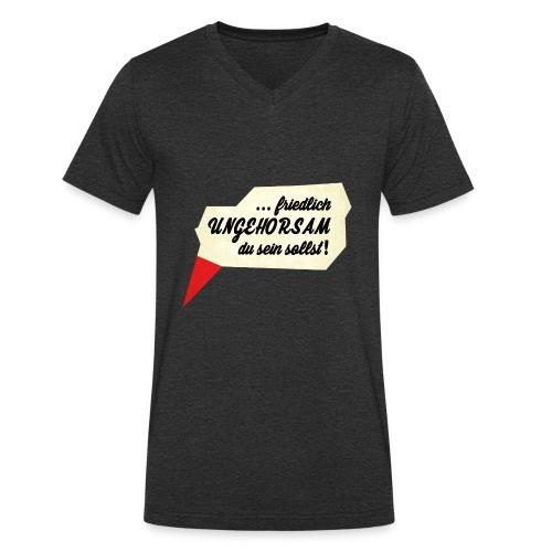 friedlich ungehorsam - Männer Bio-T-Shirt mit V-Ausschnitt von Stanley & Stella