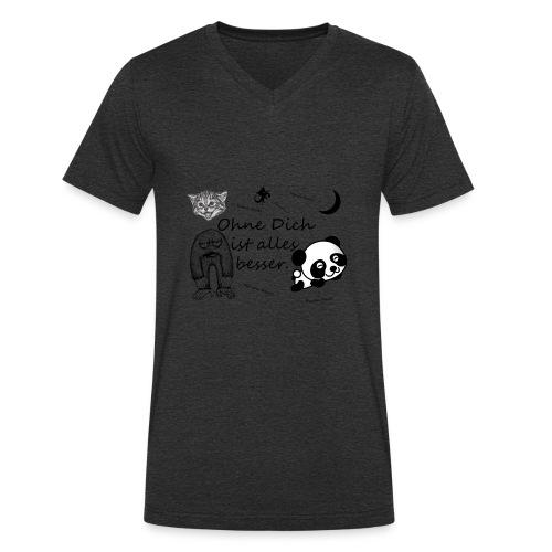 Ohne Dich ist alles besser. - Männer Bio-T-Shirt mit V-Ausschnitt von Stanley & Stella