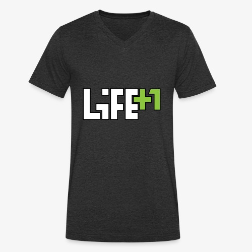 Life +1 - Men's Organic V-Neck T-Shirt by Stanley & Stella