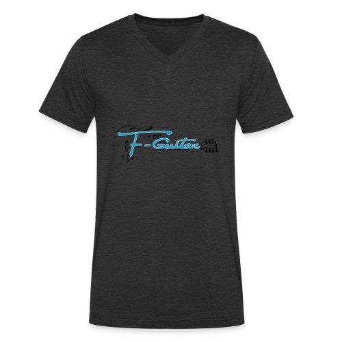F-Guitar_fond_clair_T-Shirt - T-shirt bio col V Stanley & Stella Homme
