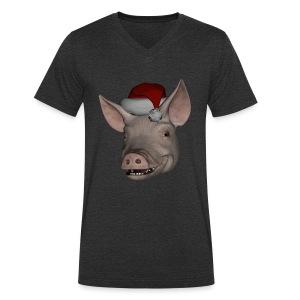 Merry Christmas - Økologisk T-skjorte med V-hals for menn fra Stanley & Stella