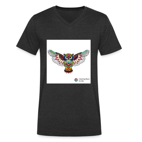 Owl - Men's Organic V-Neck T-Shirt by Stanley & Stella