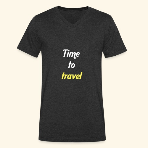 Time to travel - T-shirt bio col V Stanley & Stella Homme