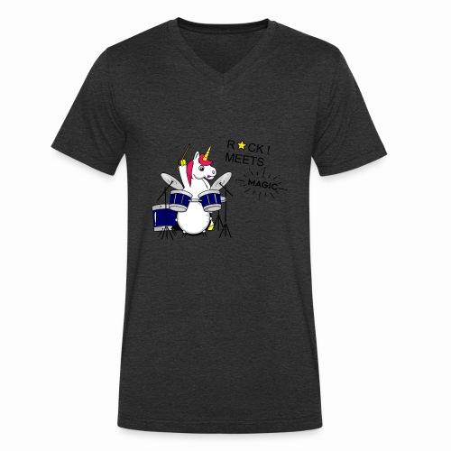Einhorn Design - Männer Bio-T-Shirt mit V-Ausschnitt von Stanley & Stella