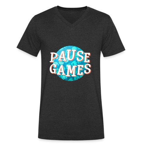 Pause Games New Version - Men's Organic V-Neck T-Shirt by Stanley & Stella