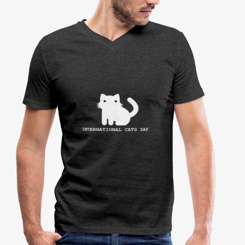 International Cats Day - Men's Organic V-Neck T-Shirt by Stanley & Stella