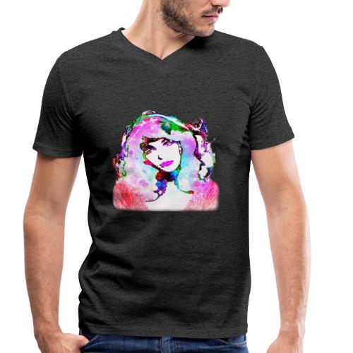 Painted Kate - Männer Bio-T-Shirt mit V-Ausschnitt von Stanley & Stella