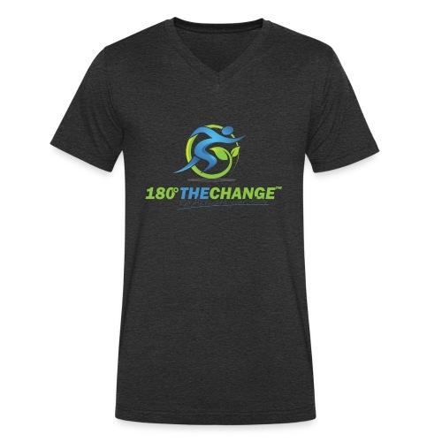 180TC Logo Hochformat - Männer Bio-T-Shirt mit V-Ausschnitt von Stanley & Stella