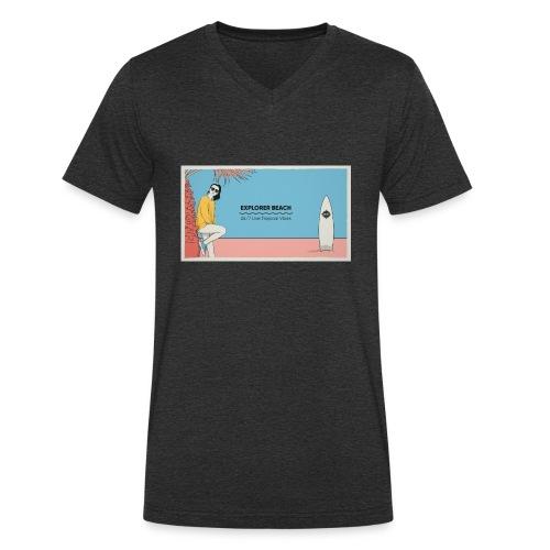 Noise Explorer Beach Test - T-shirt bio col V Stanley & Stella Homme