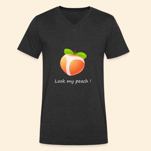 Look my peach in white - Men's Organic V-Neck T-Shirt by Stanley & Stella