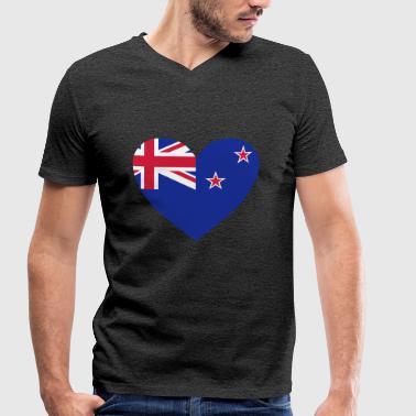 2541614 14657116 new zealand - Økologisk Stanley & Stella T-shirt med V-udskæring til herrer