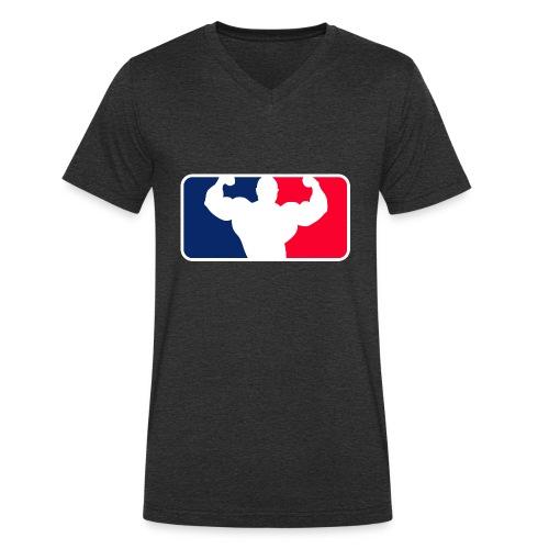 Bodybuilding Logo Im League-style - Männer Bio-T-Shirt mit V-Ausschnitt von Stanley & Stella