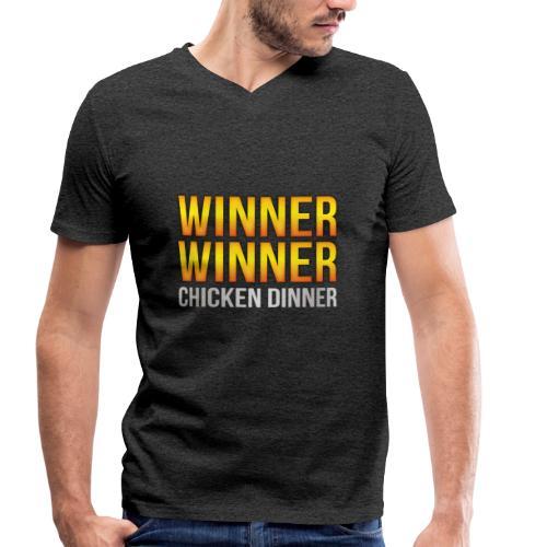 PUBG Winner Winner Chicken Dinner - Männer Bio-T-Shirt mit V-Ausschnitt von Stanley & Stella