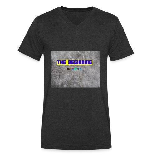 The Beginning - Men's Organic V-Neck T-Shirt by Stanley & Stella