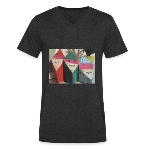Poppetjes kamer - Mannen bio T-shirt met V-hals van Stanley & Stella