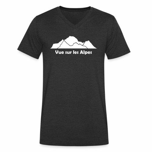 Vue sur les Alpes - T-shirt bio col V Stanley & Stella Homme