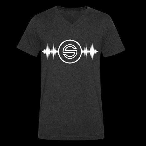 SeqSounds Logo - Männer Bio-T-Shirt mit V-Ausschnitt von Stanley & Stella