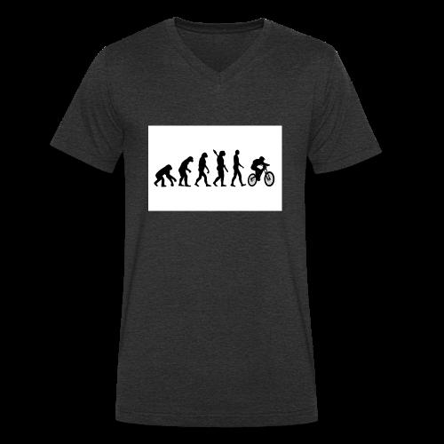 Evolution to Biking - Männer Bio-T-Shirt mit V-Ausschnitt von Stanley & Stella