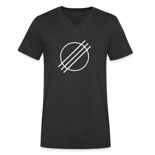 DJ Øyvind Offisiell Logo (hvit) - Økologisk T-skjorte med V-hals for menn fra Stanley & Stella