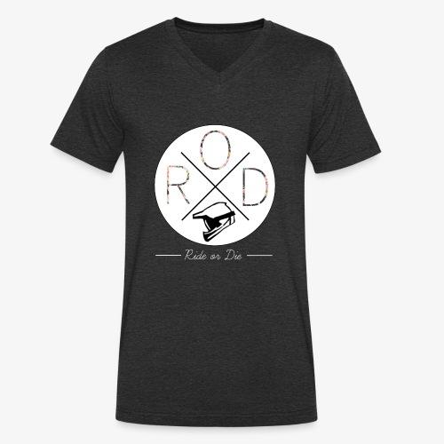 RideorDie Flowers - Männer Bio-T-Shirt mit V-Ausschnitt von Stanley & Stella