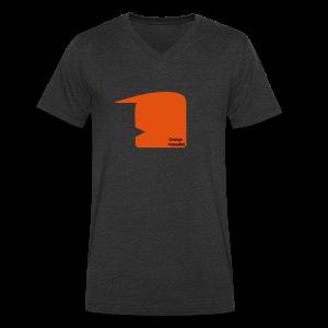 Orange Mussalini - Männer Bio-T-Shirt mit V-Ausschnitt von Stanley & Stella