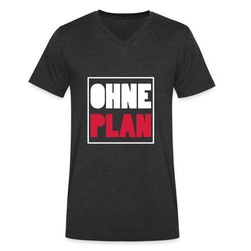 OHNE PLAN - Männer Bio-T-Shirt mit V-Ausschnitt von Stanley & Stella