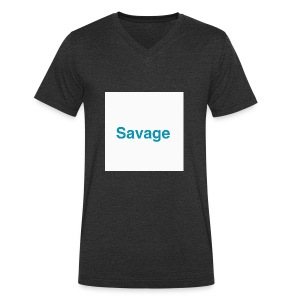 NEW EXLUSIVE SAVAGE MERCHANDICE - Men's Organic V-Neck T-Shirt by Stanley & Stella