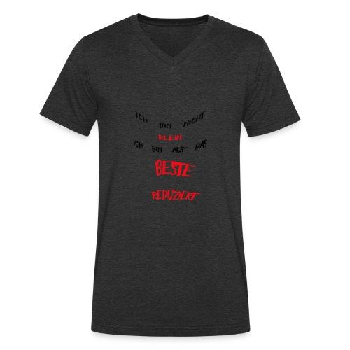 Ich bin nicht klein - Männer Bio-T-Shirt mit V-Ausschnitt von Stanley & Stella