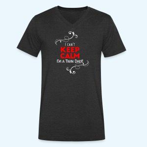 I Can't Keep Calm (alleen voor pappie!) - Mannen bio T-shirt met V-hals van Stanley & Stella