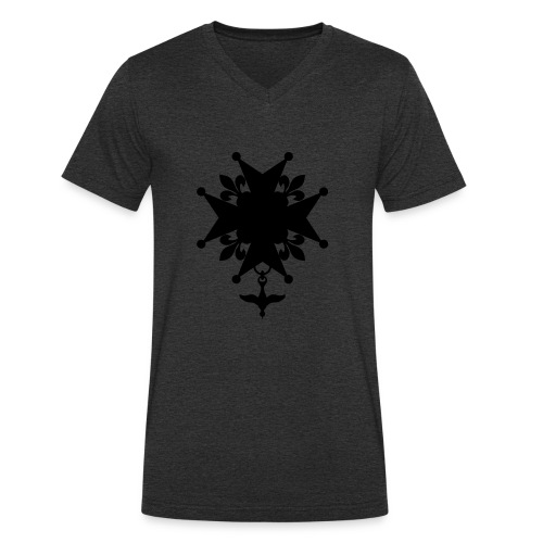 Huguenot_cross - T-shirt bio col V Stanley & Stella Homme