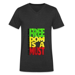 Freedom is a must - Men's Organic V-Neck T-Shirt by Stanley & Stella