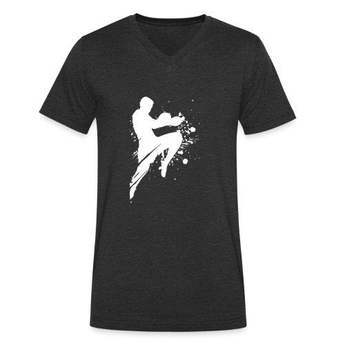 Kampfsport Lausitz Cottbus Logo - Männer Bio-T-Shirt mit V-Ausschnitt von Stanley & Stella