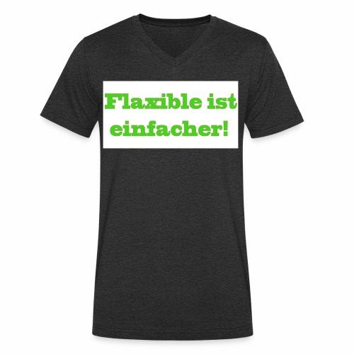 ,,Flaxible ist einfacher'' Kollektion - Männer Bio-T-Shirt mit V-Ausschnitt von Stanley & Stella