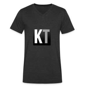 KT iPhone edition phone case - Men's Organic V-Neck T-Shirt by Stanley & Stella